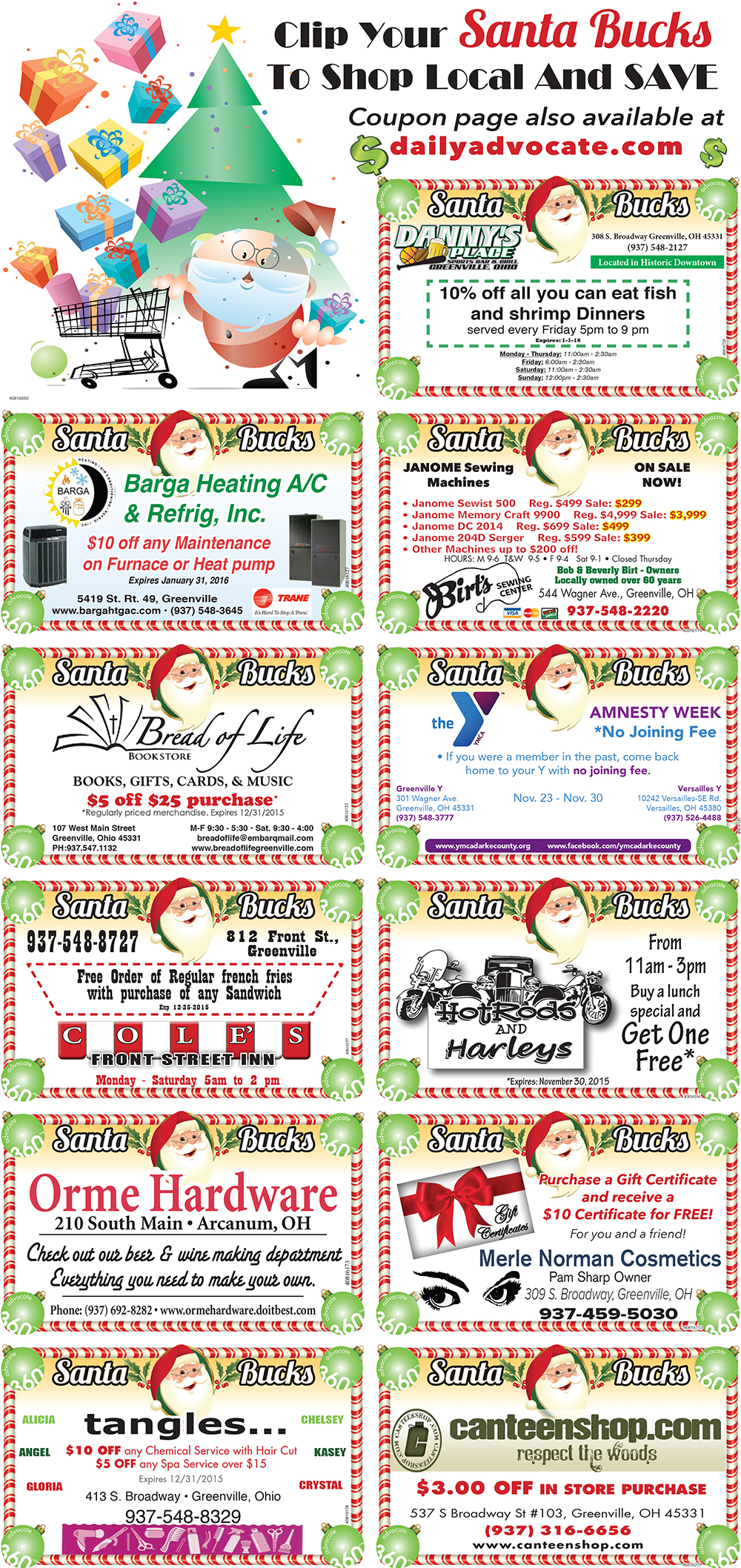 Santa Bucks Coupon 2015